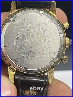 Ancienne montre chronographe Homme Céline mouvement 188, vintage chrono 1960