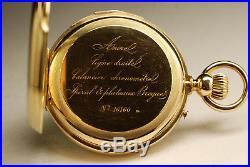 Ancienne montre gousset RÉPÉTITION OR 18K SONNERIE 1870 SOLID GOLD pocket watch