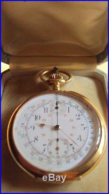 102c397e901 Ancienne montre gousset chronographe en or