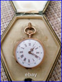 Ancienne montre gousset femme 18 K fonctionne