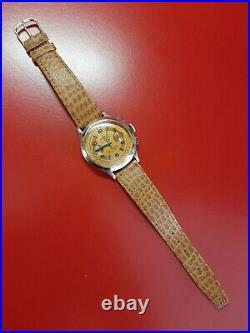 Ancienne montre homme Chronograph MERIDA Suisse VENUS 175 fonctionne omega
