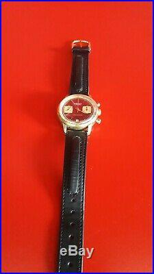 Ancienne montre homme Chronograph NAPPEY BESANÇON RARE Valjoux 7734