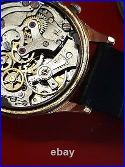 Ancienne montre homme Chronographe ALTITUDE pl or Swiss Made Venus 188