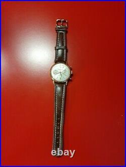 Ancienne montre homme Chronographe Suisse VALJOUX 23 fonctionne omega zenith