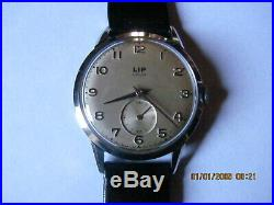 Ancienne montre lip eligoy r 25 36 mm acier