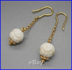 Anciennes Boucles d'oreilles en or 18 carats