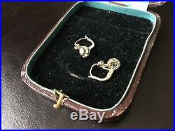Anciennes boucles doreilles or gris 18k et diamants