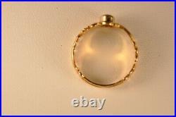 BAGUE ANCIEN OR MASSIF 18K ANTIQUE SOLID GOLD RING 4,9 GR 19th c