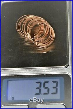 BAGUE ANCIENNE 21 PETITS ANNEAUX OR 18 Carats (testé) Bijou ancien VANRYCKE