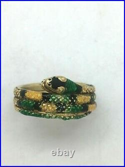 BAGUE ANCIENNE SERPENT ÉMAIL OR JAUNE 750/°°° Vintage snake Ring georgian