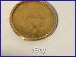 BAGUE ancienne année 50, haute joaillerie or 18 carats avec Napoléon