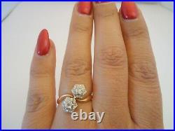 BELLE BAGUE ANCIENNE EN OR 18K DIAMANTS or 18 carats