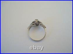 BELLE BAGUE DÔME ANCIENNE EN OR 18K DIAMANTS or 18 carats