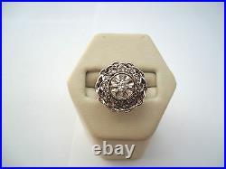 BELLE BAGUE RONDE ANCIENNE EN OR 18K DIAMANTS or 18 carats