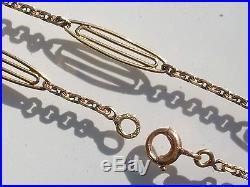BELLE CHAÎNE ANCIENNE 1920/30 en OR JAUNE 18K 750/1000° / Longueur 56cm / 5,3gr