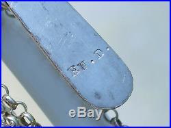 BELLE CHATELAINE ANCIENNE XIXème / GRAND CLAVIER (10,1cm) + CHAÎNE / En ARGENT