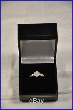 Bague Ancien Or Massif 18k Diamants Vintage Diamonds Solid Gold Ring 2,6 Gr