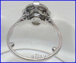 Bague Platine Solitaire Diamant Taille Ancienne 3carat 50