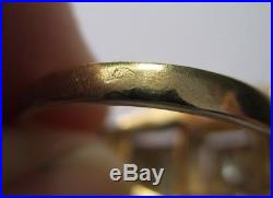 Bague Tank ancienne Art Déco Diamant Or 18 carats 3,7g French gold 18K 750