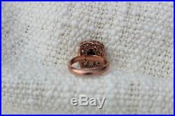 Bague ajustable argent or rose en Saphir Perles Style ancien NEUF Ring