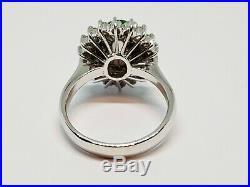 Bague ancienne Pompadour en Platine Jade & Diamants 0.54 carat 9.55 grammes