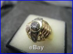 Bague ancienne années 30. Art Deco diamant en or 18 carats taille 58/59