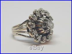 Bague ancienne en Or blanc 18 carats Diamants 1 carat 7.31 grammes