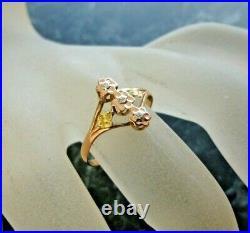 Bague ancienne en or rose 18 carats poincon tete d aigle T 59