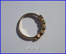 Bague ancienne jonc jarretière grenat Or rose massif 18 carats gold ring 750