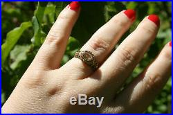 Bague ancienne or 18 carats citrine