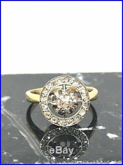 Bague ancienne or 18 carats et diamants 0,17 carat