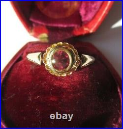 Bague ancienne très beau grenat or massif 18 carats French gold ring 750
