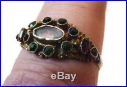 Bague en OR massif 18k du 18e siècle Bijou ancien 18th century gold ring