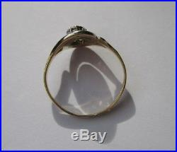 Bague tourbillon ancienne Diamants Or massif 18 carats French gold ring 750
