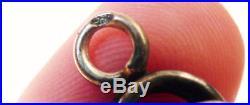 Beau bracelet ANCIEN en argent massif avec breloque silver Vers 1900