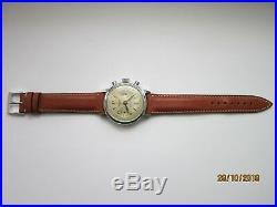 Belle & Ancienne Montre Chronographe Suisse Acier landeron 48