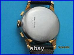 Belle & Ancienne Montre Chronographe Suisse TELDA roue à colonne Vénus 170