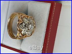 Belle Bague Ancienne Or 2 Tons 18 K / 750 / Diamants