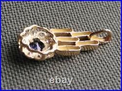 Bijou ancien pendentif or jaune 18 carats, 750/1000, pierres à identifier