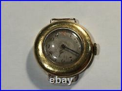 Bijoux Ancienne montre poignet en or 18K à restaurer (103-39/A124)