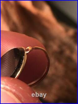 Bijoux deuil anciens XIX Boucles d'oreilles dormeuses Plaque Ony monture Or 18k