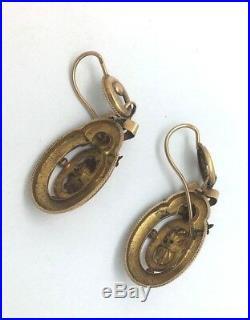 Boucles D Oreilles Anciennes Napoleon III En Or Jaune 18k