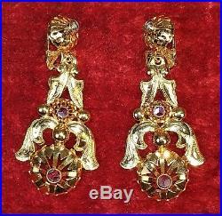 Boucles D'oreilles Isabelins. Or And Diamants Taille Ancienne. Espagne. XIX