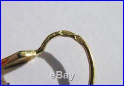 Boucles doreilles dormeuses anciennes pendantes Art Déco Or 18 carats 750