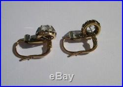 Boucles doreilles dormeuses trembleuses anciennes Or 18 carats gold 750