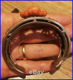 Bracelet Ancien Art Déco Ou Art Nouveau Avec Corail