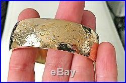 Bracelet ancien Jonc Ciselé Ouvrant Or 18 carats 750 °/°° 35,40 grs bijou ancien