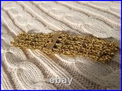 Bracelet ancien manchette chaines souple 18 cm
