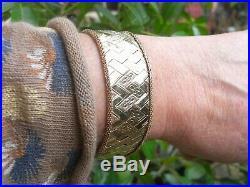 Bracelet ancien manchette en or 18 carats