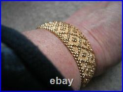 Bracelet ancien manchette maille polonaise